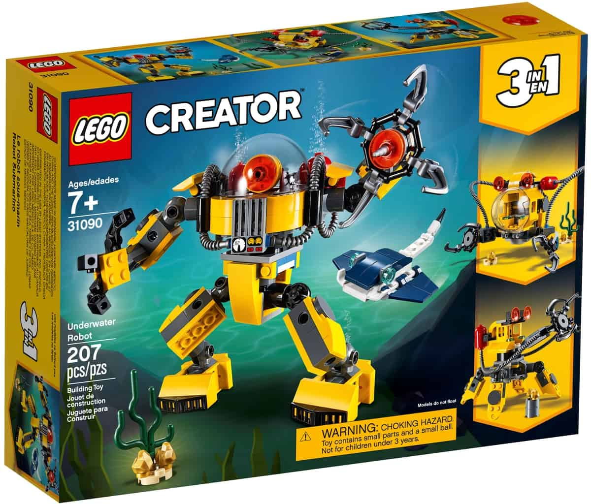 lego 31090 viz alatti robot