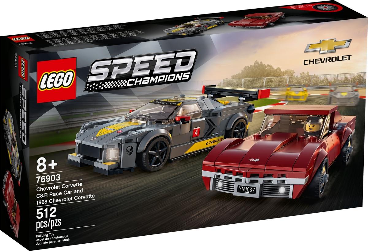 lego 76903 chevrolet corvette c8 r race car es 1968 chevrolet corvette